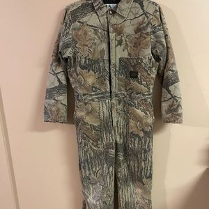 Liberty youth camo zip up lined hunting suit SZ 16